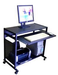 all metal 32 inch wide steel computer desk compact all steel mobile computer cart black metal computer desk