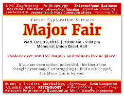 major fair career exploration services the career exploration major fair will take place on wednesday 19th 2016 from