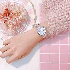 Corcrest - Transparent Clock Silicon Watch Women ... - Amazon.com