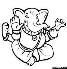 Small Picture Diwali Online Coloring Pages Page 1