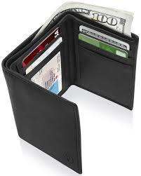 <b>Genuine Leather</b> Slim Trifold <b>Wallets</b> For <b>Men</b> - <b>Mens Wallet</b> RFID ...