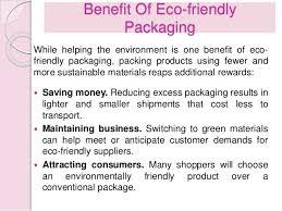 benefit benefits eco friendly