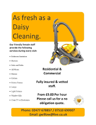 house cleaner in leicester leicestershire domestic cleaning as fresh as a daisy cleaning fully insured home cleaner end of tenancy oven house office