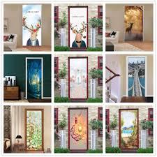 Removble <b>3D</b> White Romantic Wedding <b>Door Stickers</b> Self adhesive ...