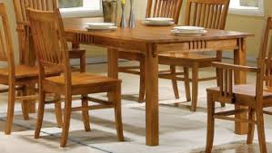 4 chair kitchen table: dining room burnished oak solid hardwood dining table sets with mission style dining table that