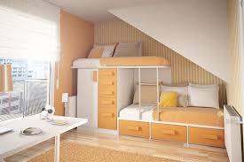 excellent teenage bedroom furniture decorating ideas with white orange laminated loft bed frame plus wardrobe and bedroom loft furniture