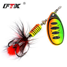 <b>FTK 1pc Spinner Bait</b> Hard Spoon Bass Lures 7.5g 12g 17.5g Metal ...