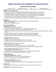 resume skills summary examples good of qualifications for resume gallery of resume skills summary examples