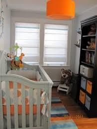 this space looks really small but doable shelft storage idea sebastians blue and orange nursery nursery designs decorating ideas hgtv rate my baby nursery ideas small