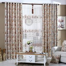 high quality printed floral pattern brown chenille shabby chic curtain chic living room curtain