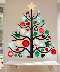 our christmas tree wall decal kit will add a touch of style and and holiday charm charming office craft home wall