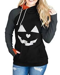 Karlywindow <b>Womens Halloween</b> Pumpkin Face Long Sleeve ...