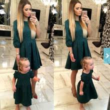 <b>Mother daughter dresses</b> Fashion Family Matching Outfits Slim ...