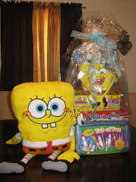 Spongebob Square Pants Filled Easter Basket Birthday Yellow ...