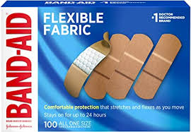 Johnson & Johnson Band-Aid Brand <b>Flexible</b> Fabric <b>Adhesive</b>...