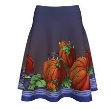 <b>Halloween Pumpkin</b> Garden <b>Digital Print</b> Skirt - ALL CIO INVEST