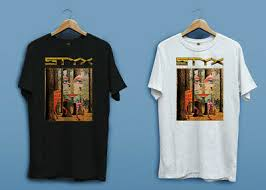 <b>STYX</b> Mens New T-SHIRT MUSIC OFFICIAL '78 <b>PIECES OF</b> EIGHT ...