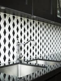 black and white trellis pattern mosaic tile on a kitchen backplashsee cococozy black white home office cococozy 5