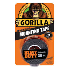 "Gorilla <b>Heavy</b> Duty Black Mounting <b>Tape</b>, 1"" x 60"" Roll - Walmart ..."