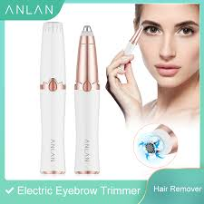 ANLAN <b>New Design Electric Eyebrow</b> Trimmer Makeup Painless ...