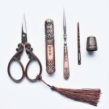 Ретро <b>ножницы винтажные ножницы</b> Awl + Threader + Thimble ...