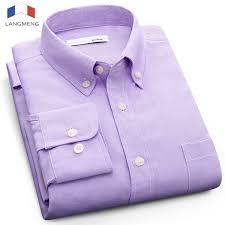 2019 <b>Langmeng</b> Plus Size 5XL Solid Color Social Dress Shirt <b>Men</b> ...