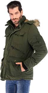 Korago <b>Mens Military Winter Jacket</b> Fleece <b>Coat</b> with 7 Pockets at ...