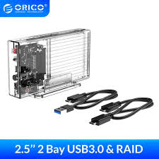 <b>ORICO 2.5 inch</b> Hard Drive Enclosure with RAID PM 0 1 SPAN ...