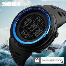 SKMEI Waterproof <b>Mens Watches</b> New Fashion Casual LED Digital ...