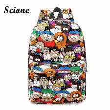 Casual South Park Cute Cartoon Women Canvas <b>Backpacks</b> Graffiti ...