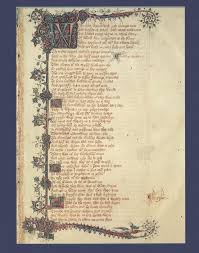 general prologue portraits middle english literature at western first page of the ellesmere manuscript the general prologue to the canterbury tales