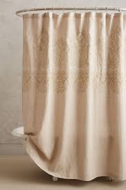 bathroom quot mission linen: embroidered linen shower curtain  anthropologiecom