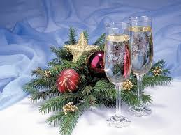 Декорирование <b>фужеров для шампанского</b> к Новому году ...