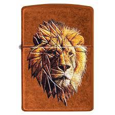 <b>Зажигалка Zippo</b> Polygonal Lion с Покрытием Toffee™, Латунь ...