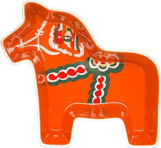 <b>Блюдо сервировочное</b> Dalahorse, оранжевое, керамика, <b>Sagaform</b>