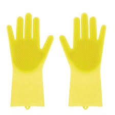 <b>1pcs Food Grade</b> Dishwashing Silicon Dishes Cleaning Gloves ...