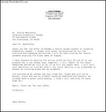 printable teaching job acceptance letter template pdf   sample    printable teaching job acceptance letter template pdf