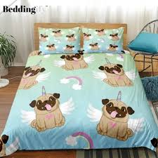 <b>Rainbow Pug</b> Bedding Set