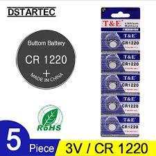 <b>5PCS CR1220 3V</b> Lithium Button Battery BR1220 LM1220 DL1220 ...