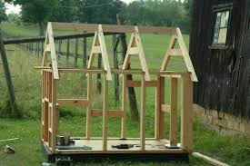 Building a Dog HouseBuilding the trusses was easy  I thought that part would be hard  Basically  you figure out the amount of overhang you want on the eaves  then the angle of