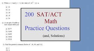 Math Plane - Challenging Math ACT / SAT practice test200 sat act math questions