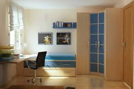 awesome simple blue and wood furniture for kids bedroom with simple hanging study table and tundle bedroom furniture design ideas