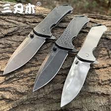 <b>SANRENMU</b> MINI POCKET Knife <b>Outdoor</b> Camping 4Cr15N Blade ...