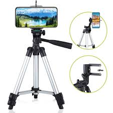 <b>Professional Camera Tripod Stand</b> Mount + Phone Holder for Cell ...