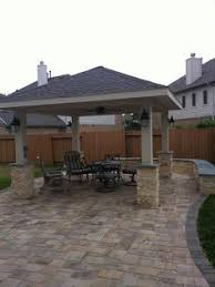 aluminium patio cover surrey: freestanding patio cover project in pearland tx by texas custom patios via flickr