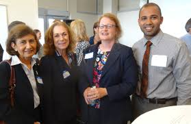 newsroom northern essex community college necc hosts lawrence joshua abreu far right necc retention specialist rosa talero evelyn friedman and tracey chalifour of lawrence community action