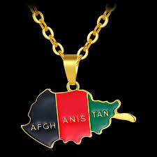 <b>Fashion Africa Afghanistan Map</b> and Flag Pendant and Necklaces ...