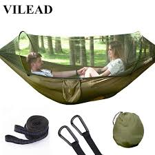 VILEAD 275*140 <b>Camping Hammock</b> Ultralight Portable Stable ...