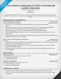 vocational rehabilitation counselor resume httpresumecompanioncom health chemical dependency counselor resume