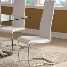 Sale Coaster 100515WHT Modern <b>Dining</b> White <b>Faux Leather</b> ...